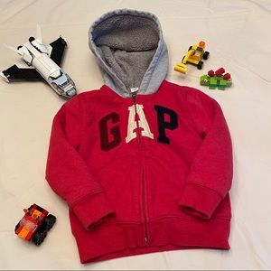 Boy's GAP zip up hoodie with fuzzy lining